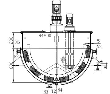搅拌锅结构图带高速剪切